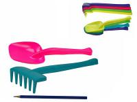 Lopatka/hrábě 30 cm - 20 ks - mix barev