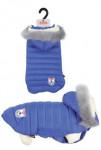 Obleček prošívaná bunda pro psy URBAN modrá 40cm Zolux