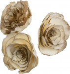Dekorace - Sola Skin Cabbage Flower 6 cm - 3 ks