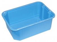 košík stohovateľný 30x21x12cm plný plastový (veľký) - mix farieb