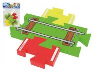 Moje první koleje – přejezd puzzle pěna 18x26cm