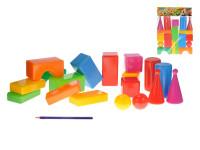 Stavebnica kocky veľké 18ks plast v sáčku