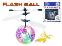 Helikoptéra míček Diamond XL 14 cm svítící reagující na pohyb ruky s USB kabelem