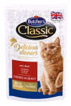Butcher's Cat Class.Delic.Dinn. hovězí kapsa 100g