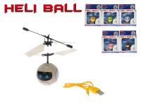 Helikoptéra míček 11 cm reagující na pohyb ruky s USB nabíjecím kabelem - mix variant či barev