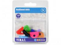 rozlišovač kľúčov plastový (10ks) - mix farieb