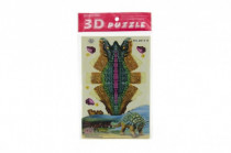 3D puzzle dinosaurus skladačka papierové v sáčku - mix variantov či farieb