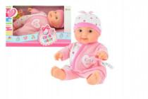 Bábätko bábika ružové plast 22cm pevné telo