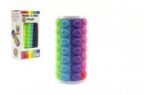 Hlavolam barevný plast 9cm