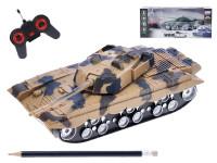 R/C tank 22 cm na baterie plná funkce se světlem a zvukem - mix barev