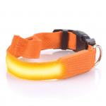 Svietiace LED obojok s USB nabíjaním, oranžový, Domestico