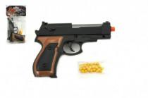 Pištoľ so zásobníkom na guličky 15cm + guličky plast