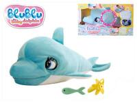 Delfín Blu Blu plyš 60cm na baterie se zvukem a doplňky v krabičce 18m+