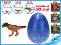 Dinosaurus líhnoucí a rostoucí ve vajíčku JUMBO 20 cm - 6 ks - mix variant či barev