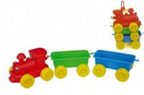 Vlak + 2 vagóny plast 60cm