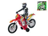 Motorka závodní 18 cm na setrvačník se závodníkem - mix barev