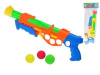 Pištoľ na guličky / vodné pištole 2 v1 48 cm - mix farieb