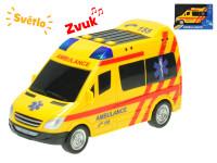 Auto ambulancie CZ 18 cm na zotrvačník na batérie so svetlom a zvukom - VÝPREDAJ