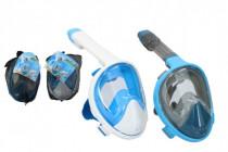 Šnorchlovacie potápačská maska pre dospelých 27cm veľ. L-XL - mix farieb