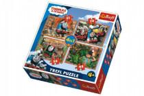 Puzzle 4v1 Mašinka Tomáš a priatelia