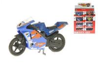 Motorka 1:24 8 cm kov volný chod - mix variant či barev