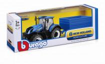Bburago 1:32 Farm Tractor New Holland W8 s vlečkou - mix variantov či farieb