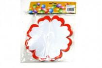 Girlanda papierová kvet 4m mix druhov v sáčku karneval - mix variantov či farieb