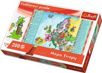 Vzdelávacie puzzle mapa Európy 200 dielikov 60x40cm