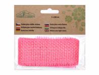 Stuha JUTA svetlo ružová šírka 5cm dĺžka 2m
