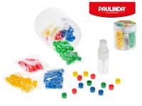 Paulinda Super Beads Jumbo 10x8 mm 160 ks s doplnkami v dóze - mix farieb