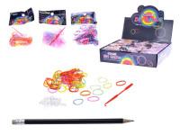 Udělej si svůj náramek - gumičky 100 ks + doplňky - mix variant či barev