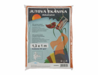 Tkanina dekoračné z juty oranžová 1,3x1m