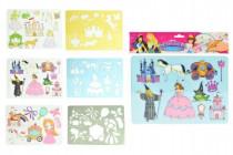 Kresliace šablóny princeznej plast 27x19cm - mix variantov či farieb