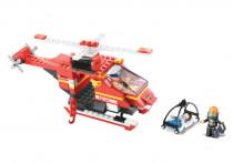 Stavebnice Hasiči - vrtulník,  155 dílků