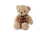 Medveď plyšový 23,5 cm sediaci so šálom