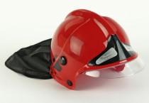 Hasičská helma červená