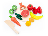 Sada ovocia a zeleniny na krájanie - drevená montessori hračka