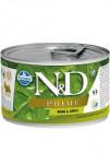 N & D DOG PRIME Adult Boar & Apple Mini 140g