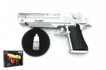 Pištoľ fajčiaci plast 22cm so svetlom so zvukom na batérie - mix farieb