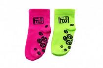 Ponožky Funny Wheels reflexní protiskluzové 2 velikosti - mix barev