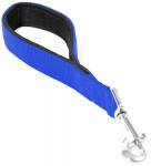 Vodítko nylon krátke Modrá dôvo + 2,5 x 30 cm