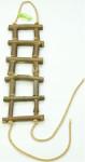 Rebrík drevený prírodný slabší 40 cm