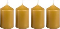 Svíčka adventní 40x60 mm - medově světlá - 4 ks