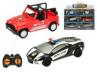 R/C auto policie 16 cm 1:28 27 MHz na baterie plná funkce - mix variant či barev
