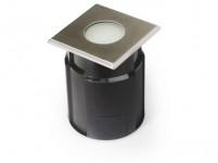 svietidlo LED zápustné 10x10cm 4,0W, IP67 teplé, do krajiny, betónu