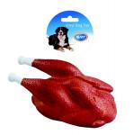 Hračka vinyl Lopta kura pečené dôvo + 19 x 10 x 8,5 cm