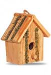 Búdka vtáčie 19x12x19, natur, hranatá s okrúhlym vchodom