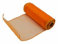 Stuha ORGANZA obšitá oranžová šířka 15cm 9m