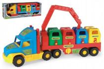 Auto / Náves Super Truck smetiar s rukou plast 75cm v krabici Wader