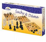 Šach a dáma drevo spoločenská hra